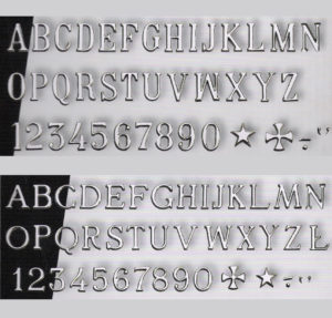 Letra Romana en Acero / Normal y estrecha